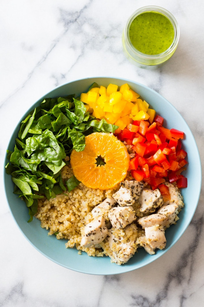 Instant Pot Quinoa Chicken Bowl • A Sweet Pea Chef - quinoa recipes chicken