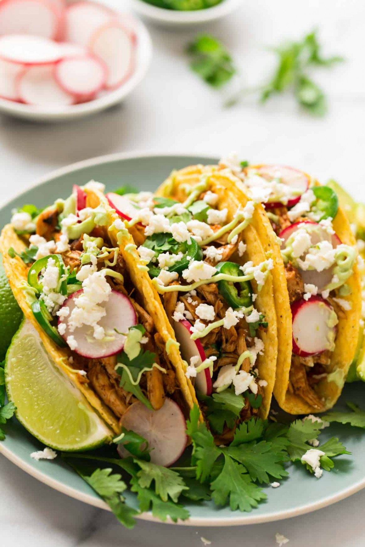 Instant Pot Shredded Chicken Tacos - taco recipes chicken