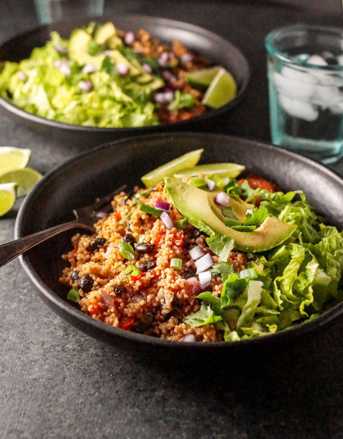 Instant Pot Vegan Quinoa Burrito Bowls | Detoxinista - vegetarian recipes for the instant pot