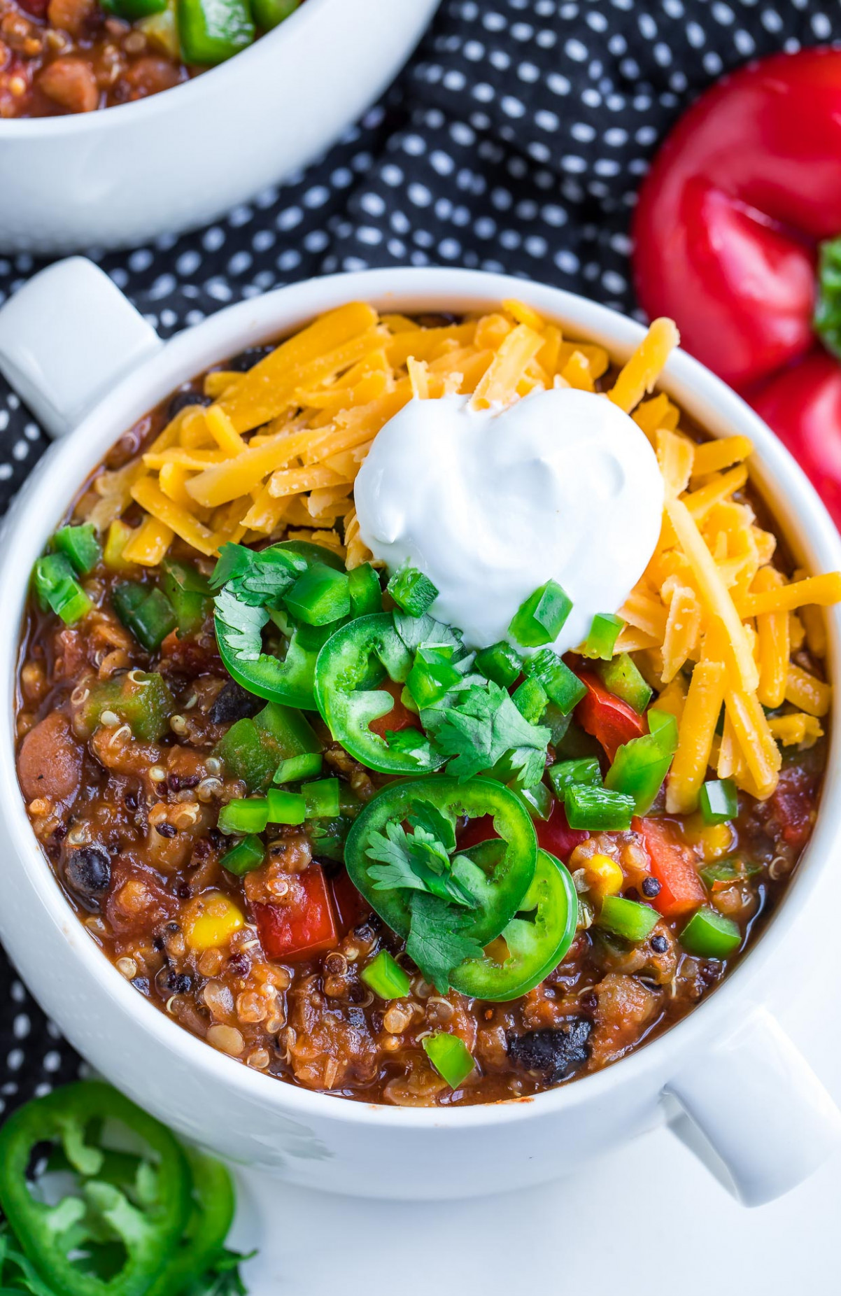 Instant Pot Vegetarian Quinoa Chili - Peas And Crayons - quinoa recipes vegetarian