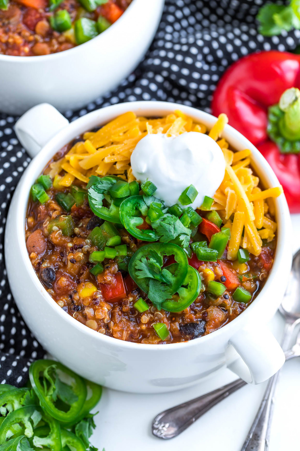 Instant Pot Vegetarian Quinoa Chili - Peas And Crayons - recipes instant pot vegetarian