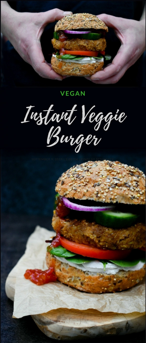 Instant Vegan Haggis, Neeps & Tatties Burgers - recipes vegetarian haggis