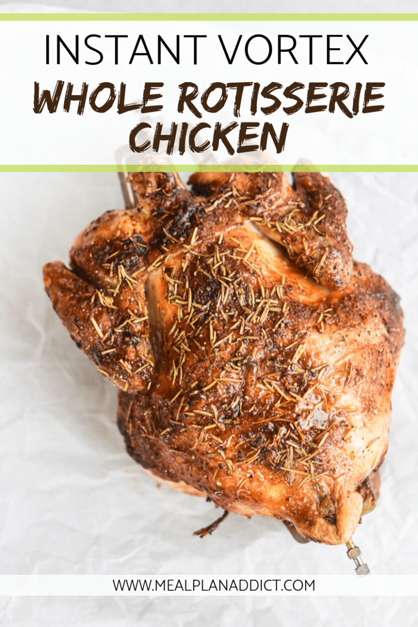 Instant Vortex Whole Rotisserie Chicken How to - recipes you can make with rotisserie chicken