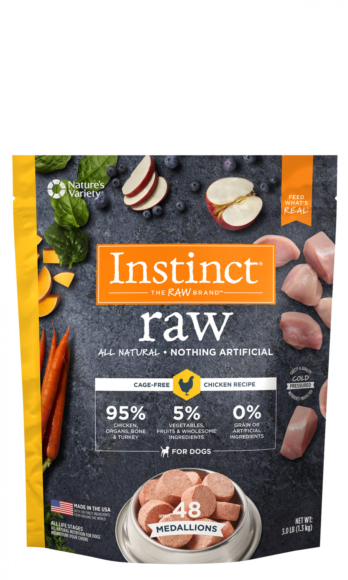 Instinct® Raw Frozen Medallions Cage-Free Chicken Recipe ..