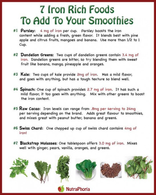 Iron rich foods, Irons and Food on Pinterest - healthy recipes high in iron
