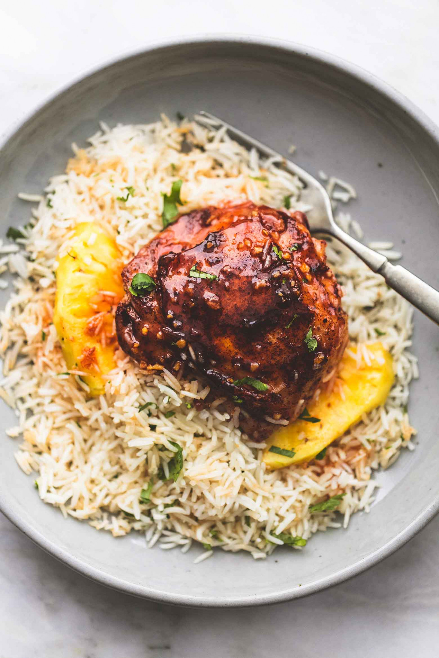 Island Glazed Chicken and Coconut Rice - chicken recipes with rice