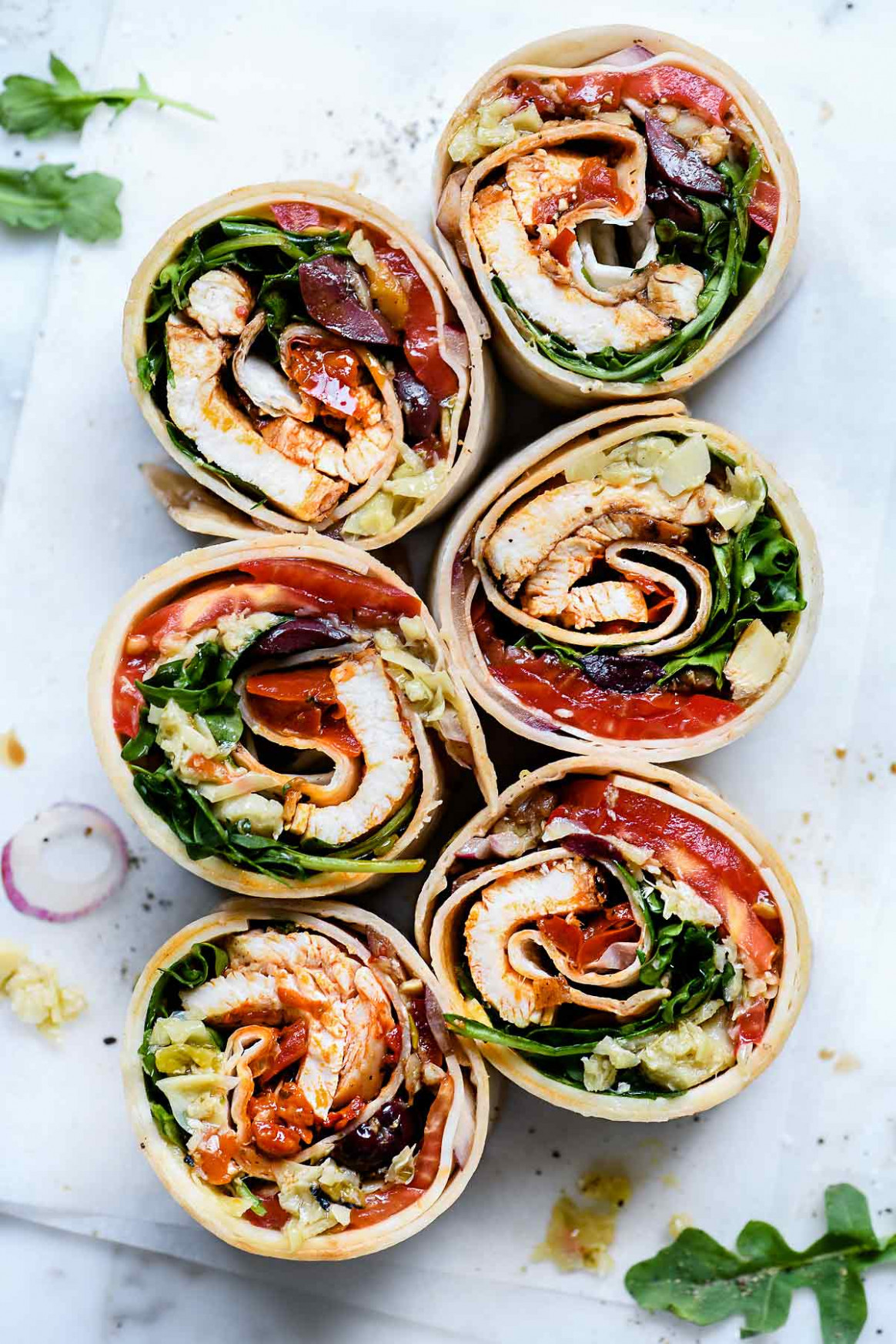 Italian Chicken Wrap - wrap recipes vegetarian