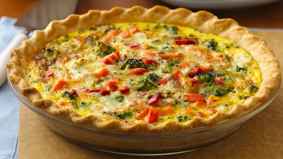 Italian Pepperoni-Vegetable Quiche recipe from Pillsbury