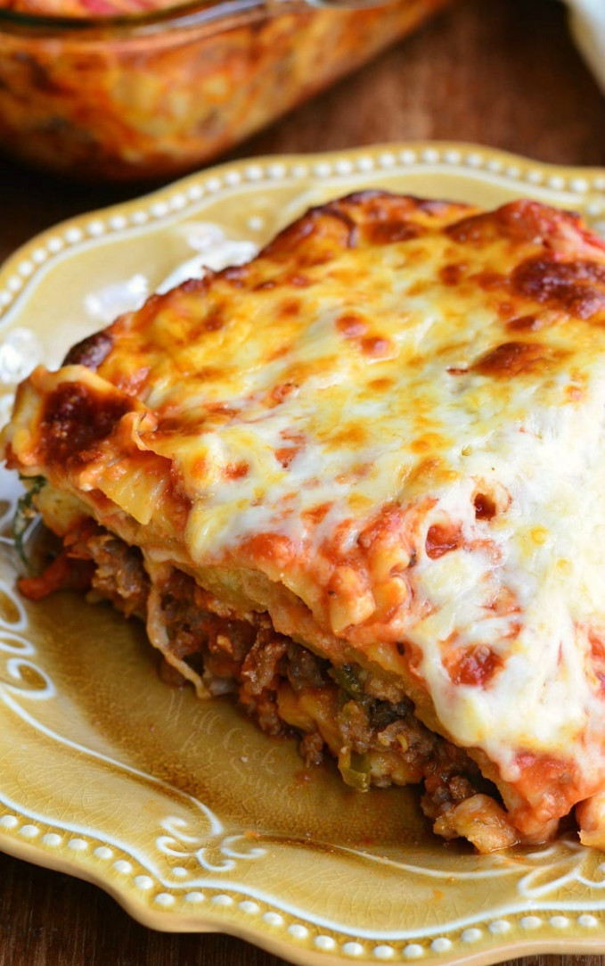 Italian Sausage Lasagna - Will Cook For Smiles - recipes lasagna vegetarian