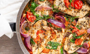 Italian Skillet Chicken With Spinach, Tomatoes, And Onions – Recipes Dinner Italian
