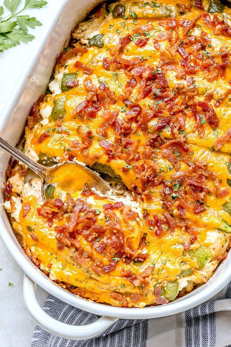 Jalapeño Popper Chicken Casserole | Recipes | Food recipes ..