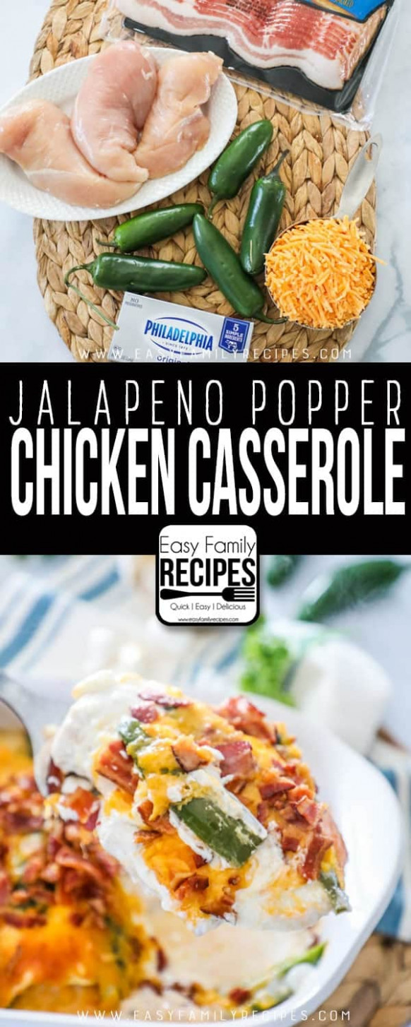 Jalapeno Popper Chicken Casserole · Easy Family Recipes - easy family recipes jalapeno popper chicken