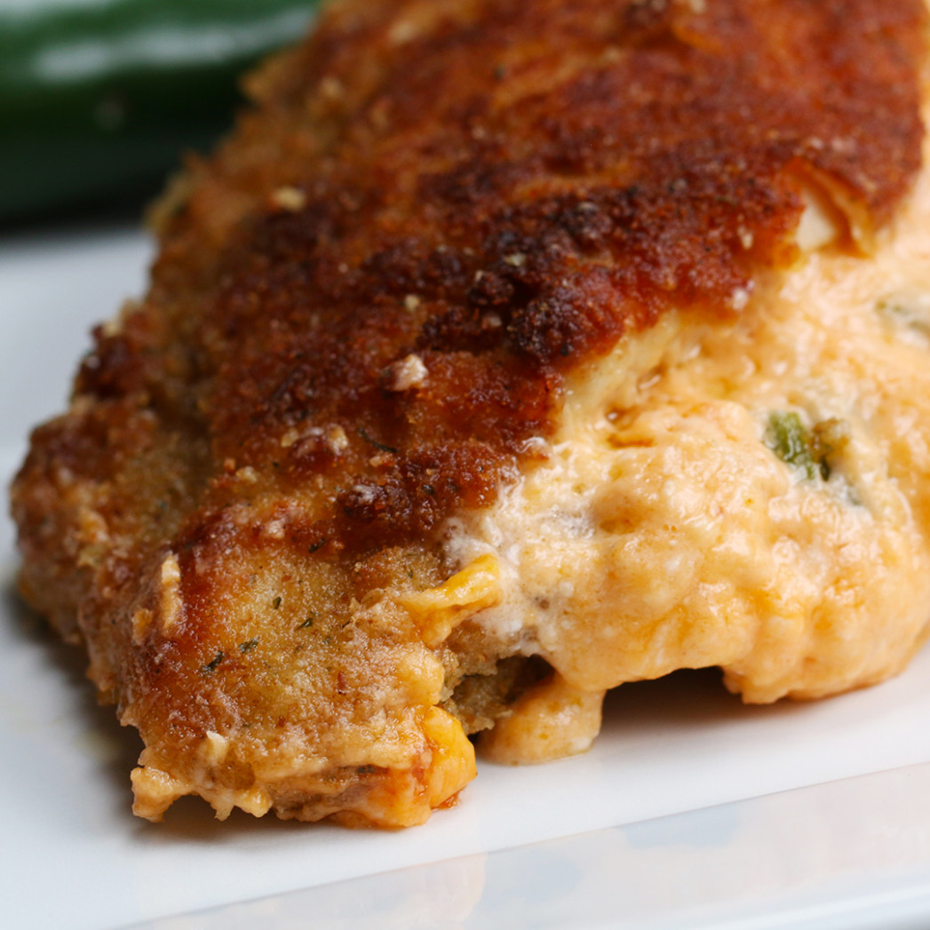 Jalapeño Popper Dip–stuffed Chicken Recipe by Tasty - chicken recipes jalapeno peppers