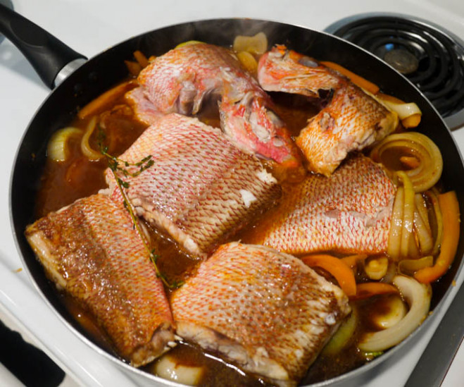 Jamaican Brown Stew Fish - The Eat More Food Project - recipes jamaican food