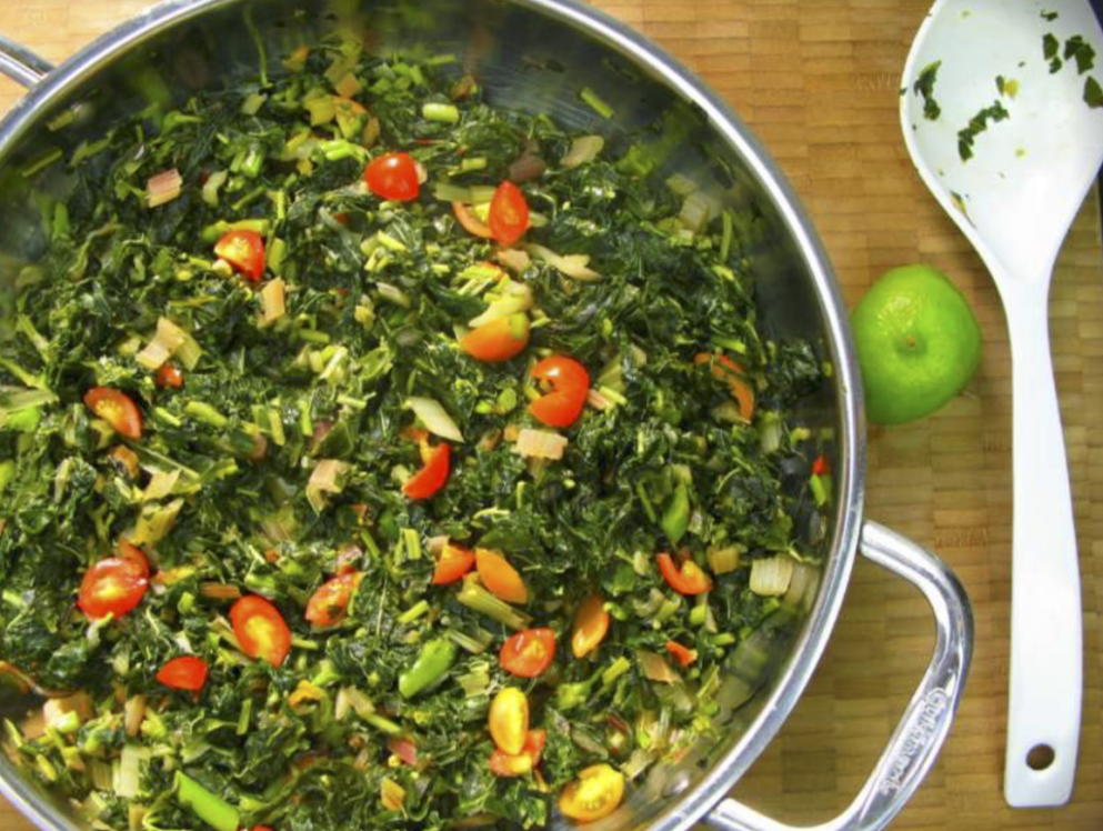 Jamaican Callaloo and Swiss Chard - jamaican vegetarian recipes