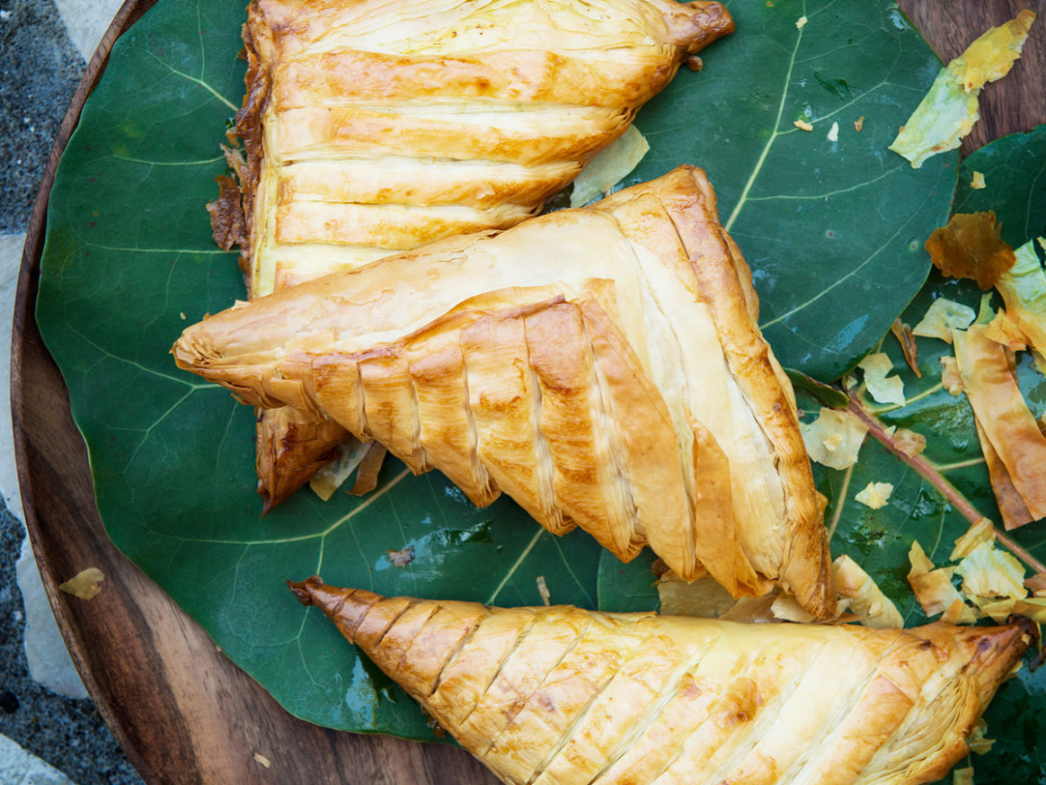 Jamaican Greens-Stuffed Patties - jamaican food recipes
