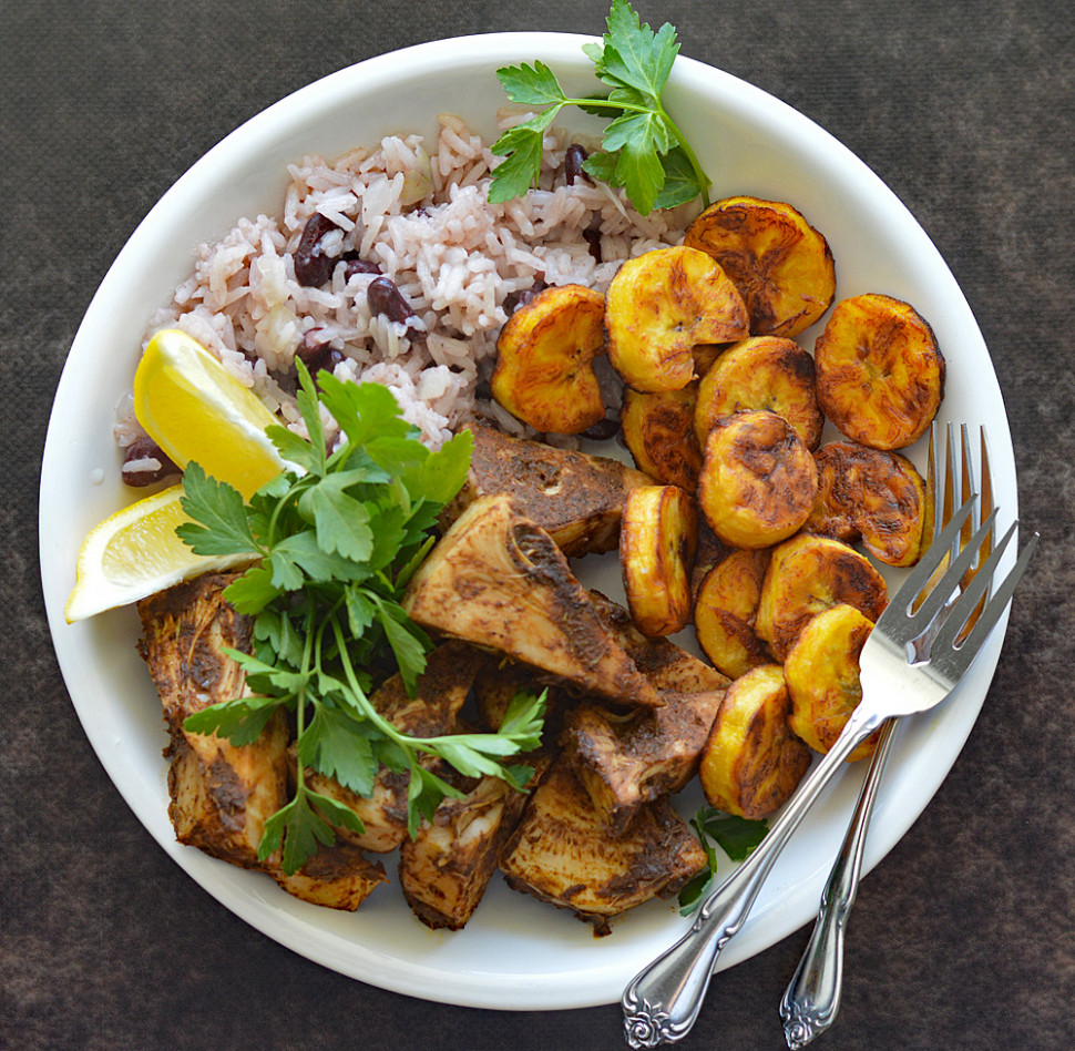 Jamaican Jerk Jackfruit with Beans and Rice - vegetarian recipes jamaican
