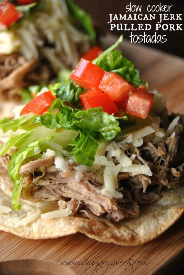 Jamaican Jerk Pulled Pork Tostadas: easy slow cooker ..