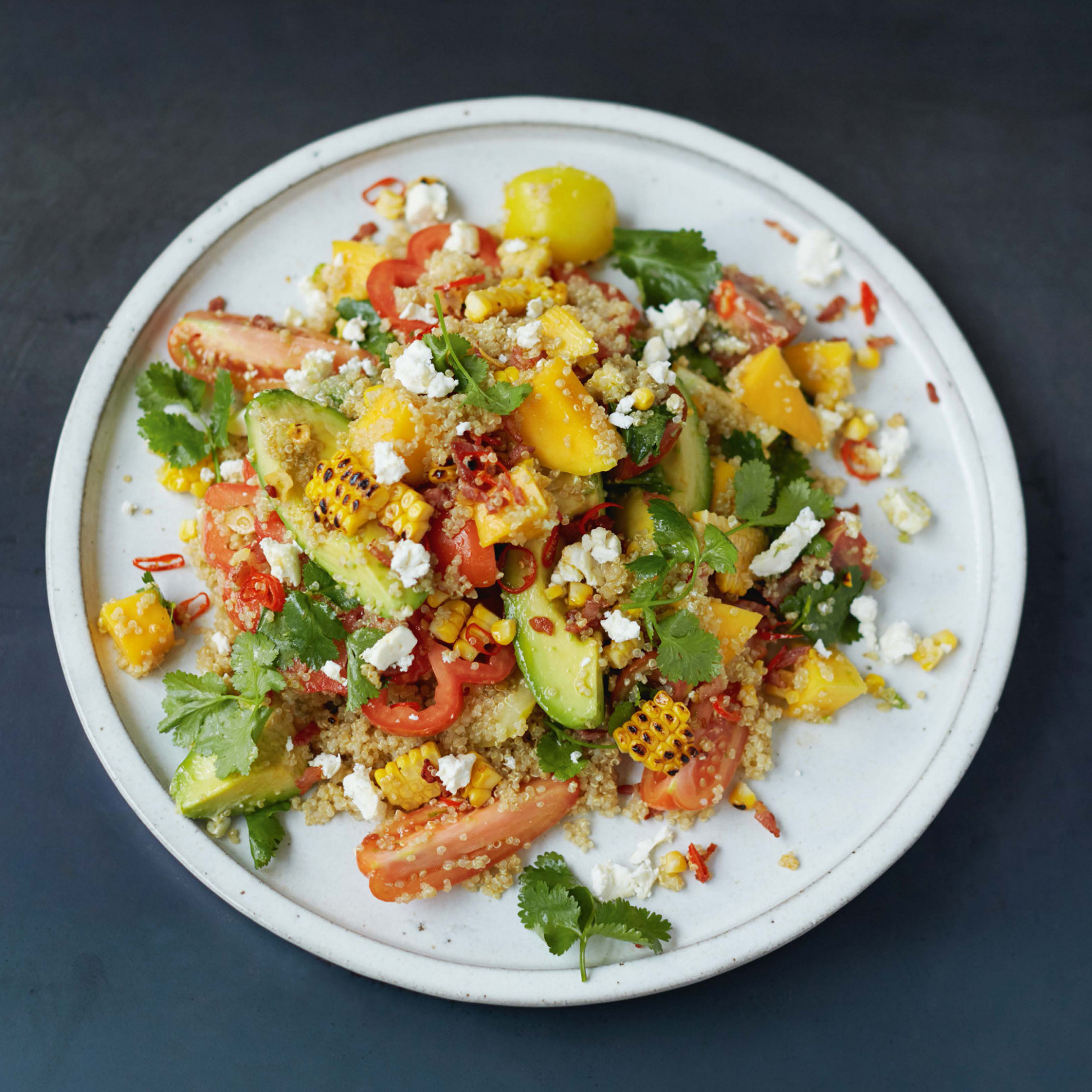 Jamie Oliver's Grilled Corn and Quinoa Salad - healthy recipes jamie oliver