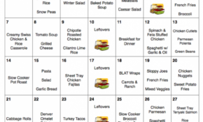 January 2018 – Free Monthly Meal Plan – Quick And Easy Kid ..