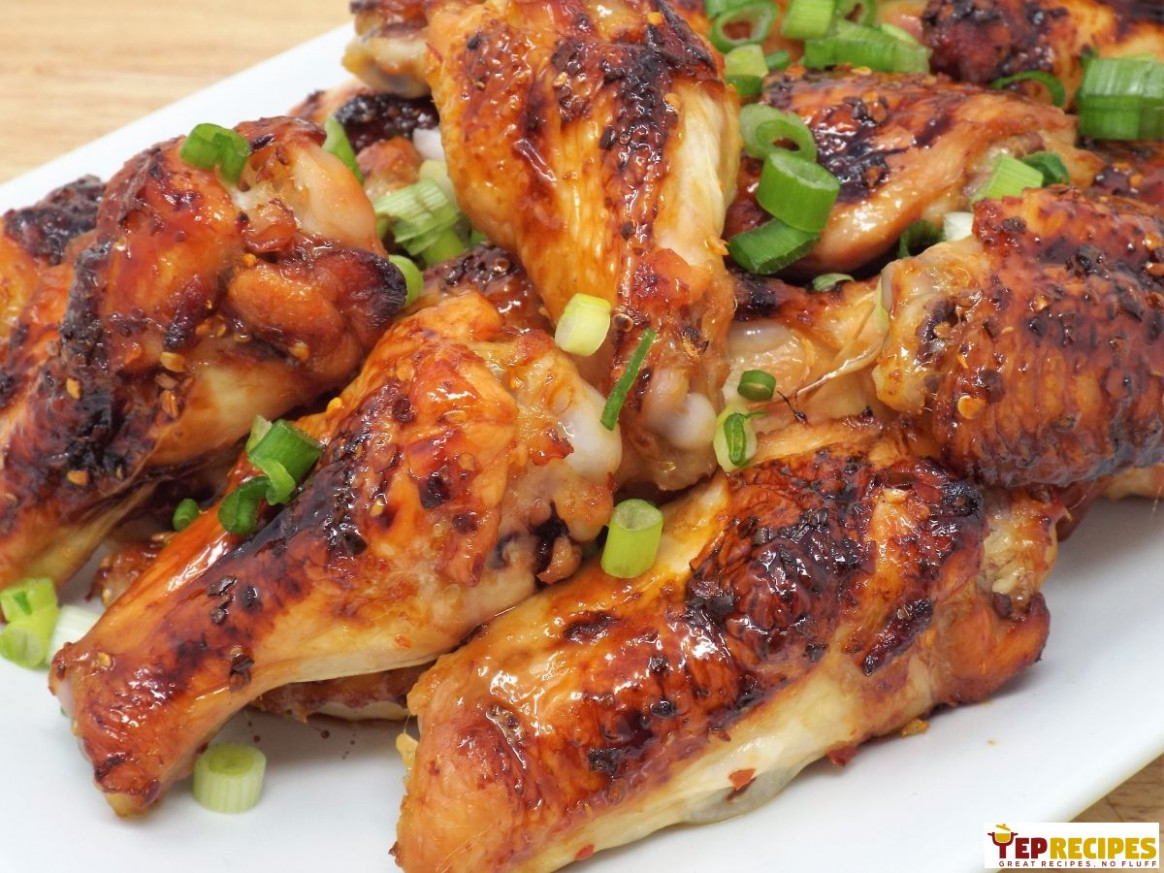 Japanese Style Sweet & Spicy Glazed Chicken Wings - Chicken Recipes Japan