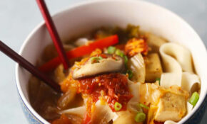 Japanese Udon Noodles With Kimchi Miso Broth – Udon Noodle Recipes Vegetarian
