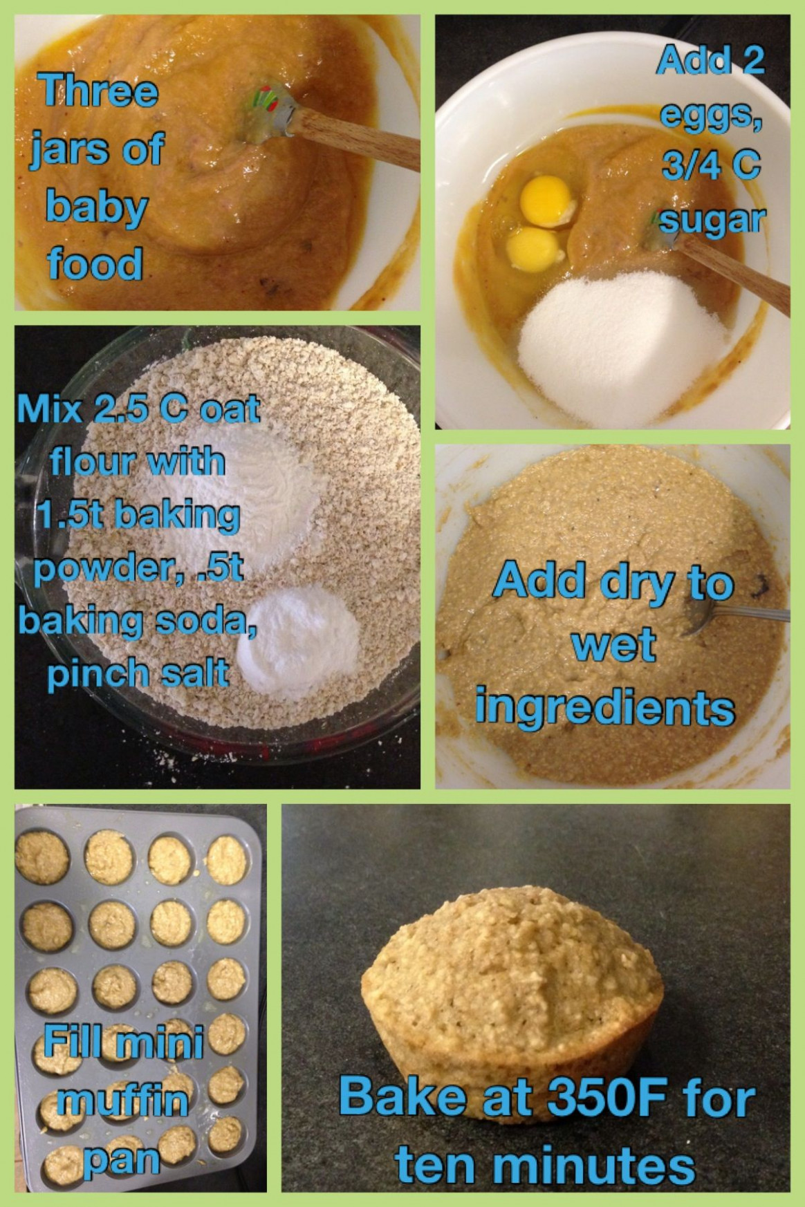 Jarred baby food recipe, baby food muffins. I get a ton of ..