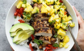 Jerk Chicken Bowls With Mango Pineapple Salsa | Easy ..
