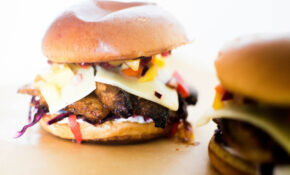 Jerk Chicken Burgers With Red Cabbage Coleslaw & Mango ..