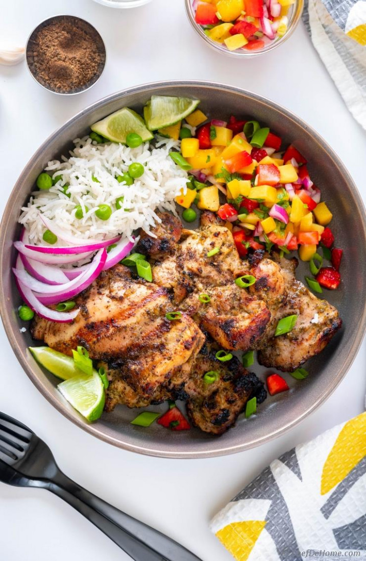Jerk Chicken with Amazing Jerk Marinade - jamaican recipes chicken