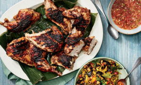 Jerk Chicken with Scallion-Pepper Sauce Recipe - Andrew ...