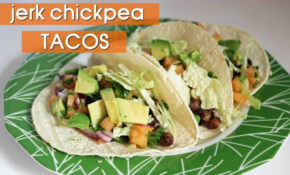 Jerk Chickpea Tacos With Melon Salsa || Healthy Vegan Recipes – Recipes Using Corn Tortillas Healthy