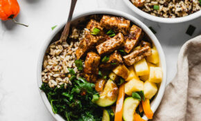 Jerk Tofu Vegetable And Rice Bowl – Recipes With Tofu Healthy
