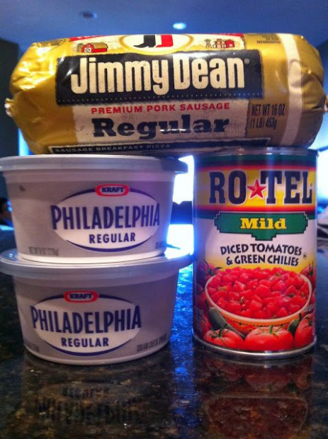 Jimmy dean / cream cheese / Rotell / DIP | Snacks / salsas ..