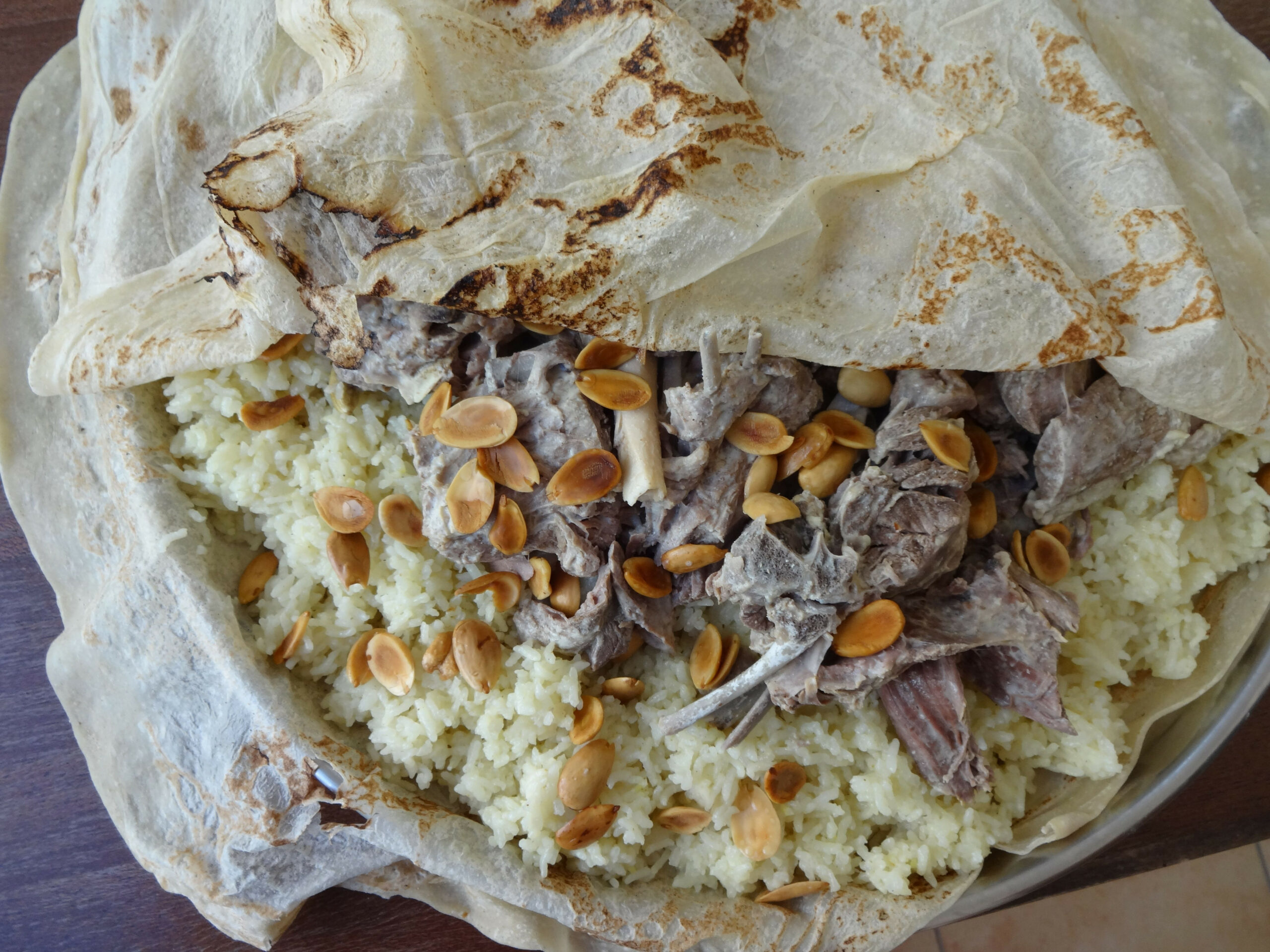 Jordanian Mansaf – Lamb Cooked In A Yogurt Sauce – المنسف ..