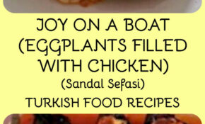 JOY ON A BOAT (EGGPLANTS FILLED WITH CHICKEN) – SANDAL ..