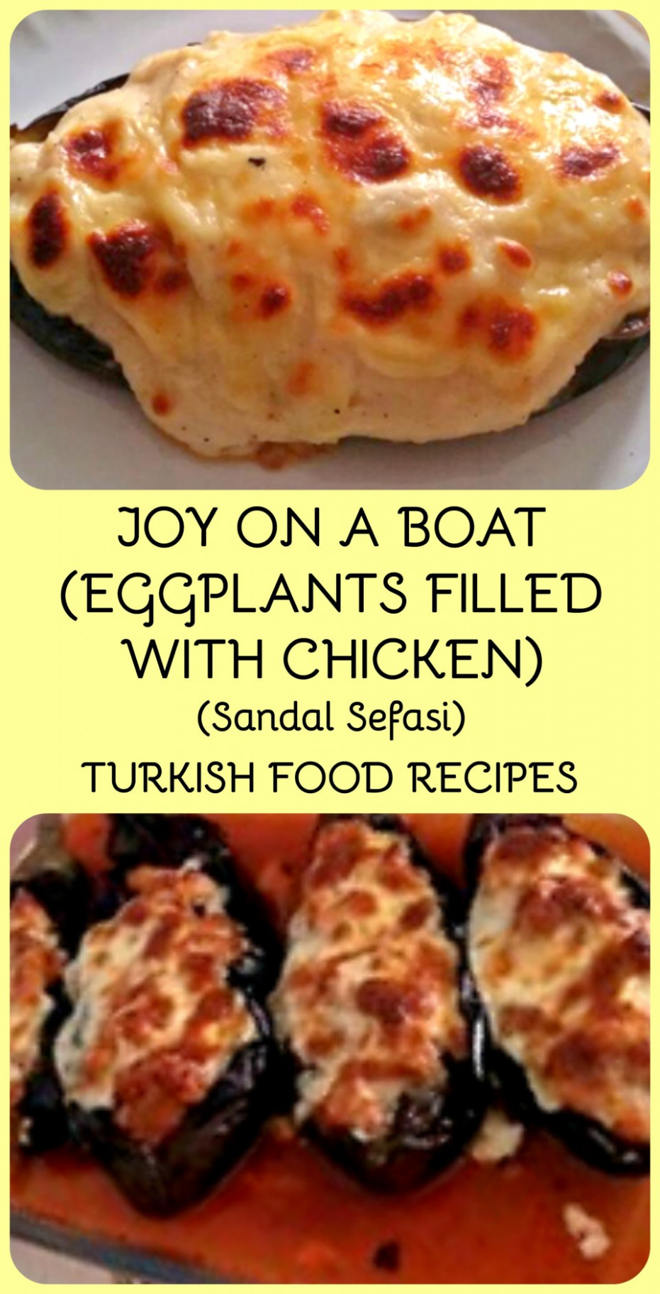 JOY ON A BOAT (EGGPLANTS FILLED WITH CHICKEN) - SANDAL ..