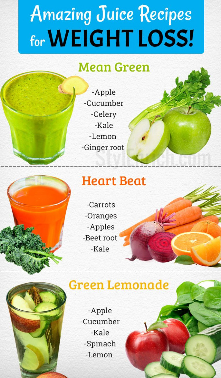 Juice Recipes for Weight Loss Naturally in a Healthy Way! - healthy juicer recipes