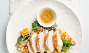 Juicy Chicken Breast With Roast Pumpkin, Quinoa And Spinach Salad – Food Recipes With Chicken Breast
