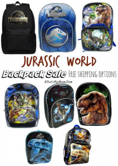 Jurassic World backpack SALE, back to school deals - A ..