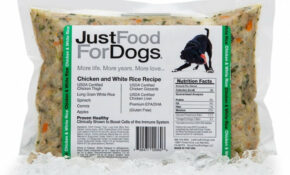 JustFoodForDogs Chicken & White Rice Frozen Cooked Dog Food – Dog Food Recipes With Chicken