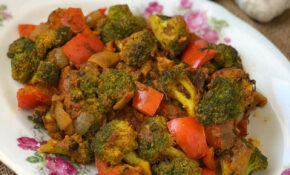 Kadai Broccoli Masala Recipe – Broccoli Cooked With Indian Spices – Quick Lunch Recipes Indian Vegetarian