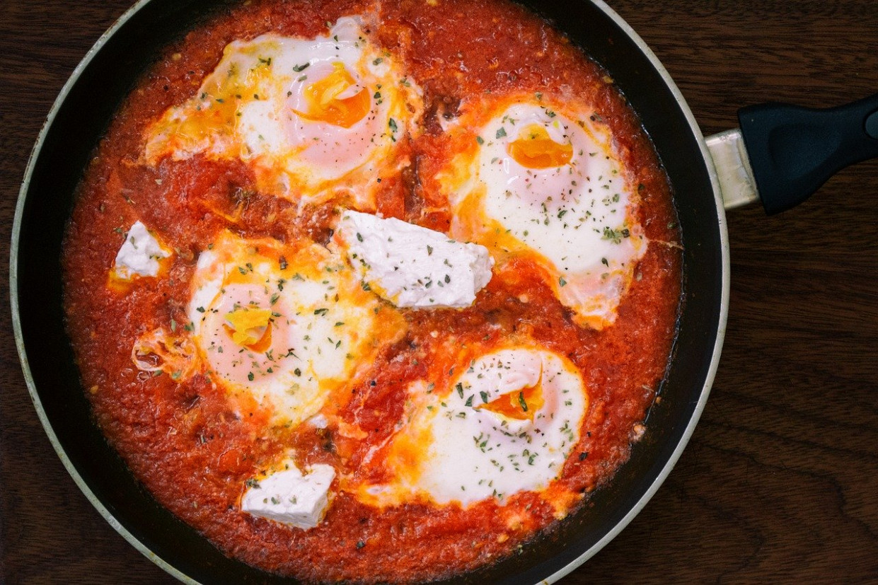 Kagyana, Strapatsada, Gdarta, Shakshuka - greek recipes dinner