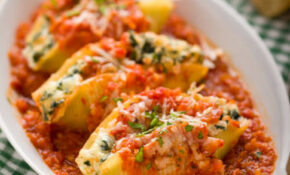 Kale And Ricotta Stuffed Shells – A Food Centric Life – Jumbo Shell Pasta Recipes Vegetarian
