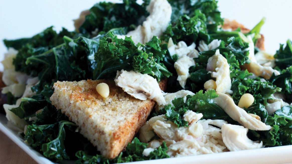 Kale Chicken Caesar Salad - Recipes Kale And Chicken