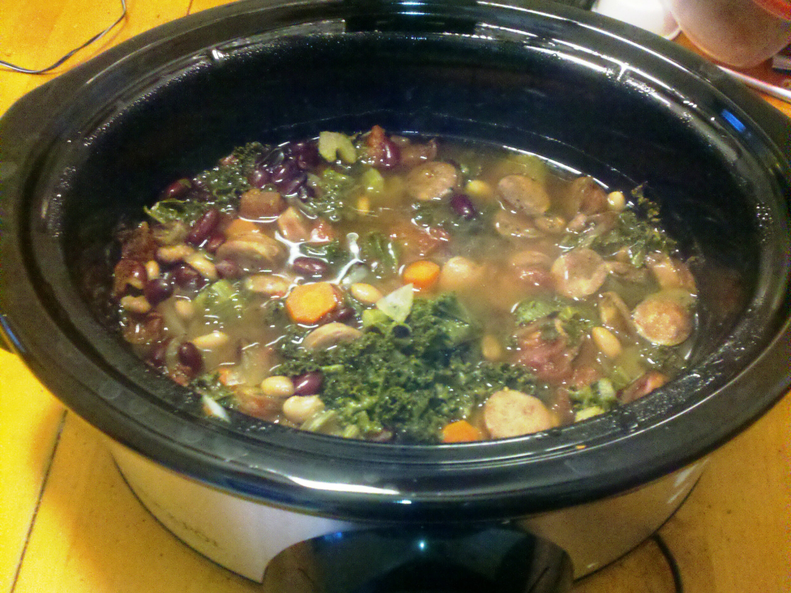 Kale is the new spinach (Subtitle: Healthy Crockpot Recipe ..