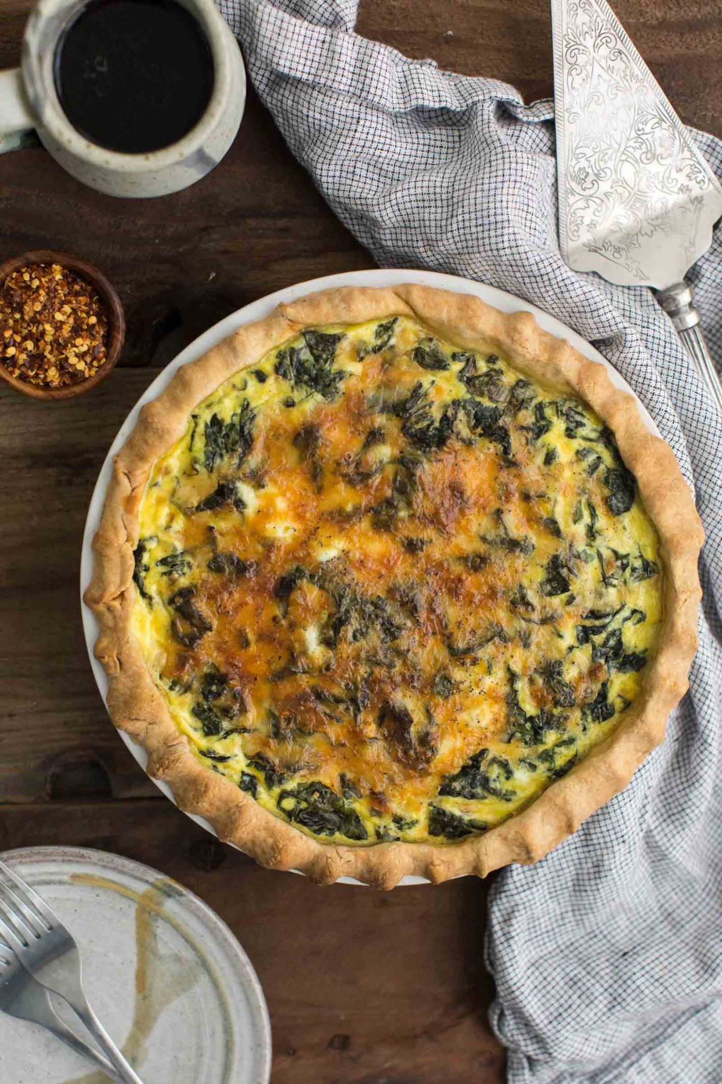 Kale Quiche with Garlic - recipes quiche vegetarian