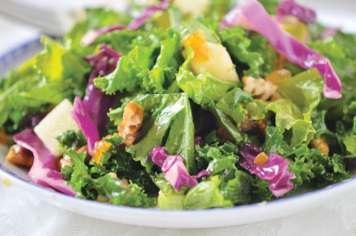 Kale Salad with Fruity Vinaigrette | Recipe | Kale salad ..