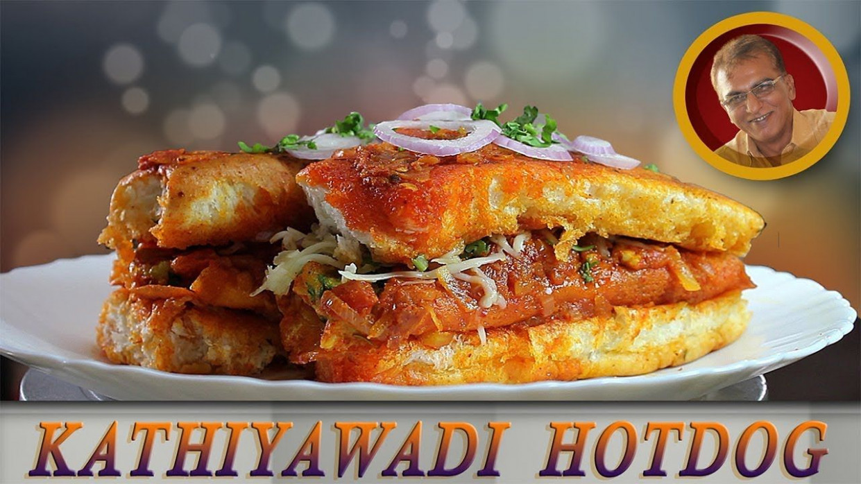 Kathiyawadi Hotdog/spicy Veg Hotdog Recipe In Hindi/cheese ..