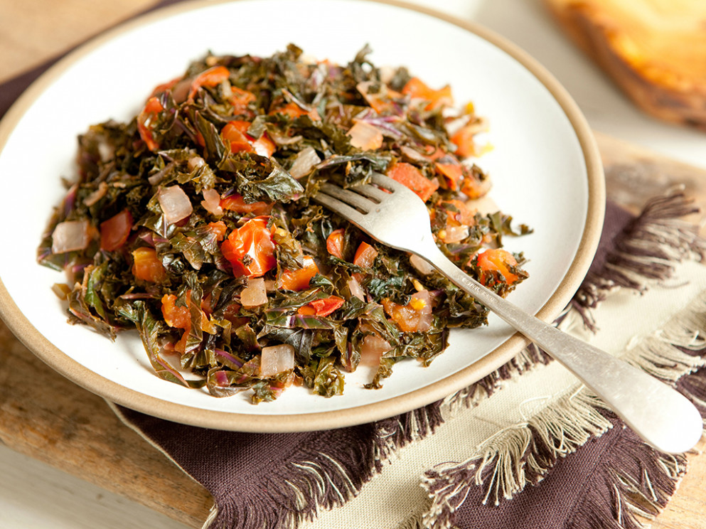 Kenyan Style Kale And Tomatoes - Whole Food Recipes